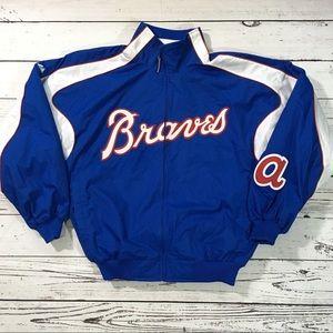 Atlanta Braves  full zip majestic fleece jacket